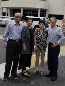 감사한인교회 Ever Green meeting 에서 서울대 농대 동기동창, 박미숙 목사님 과 남편, 박경준 장로님을 만남
