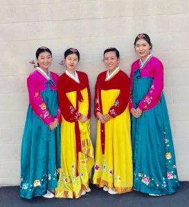 Disneyland-ErinSuk, left, Minji Park, Giselle Kim & Chaeyoung Kim