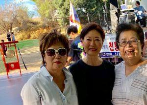 Dr. Monica Ryoo, left, Hiza Yoo & Jungah Lee