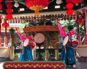 Erin Suk & Julia Kim (Janggo Dance at Disneyland)
