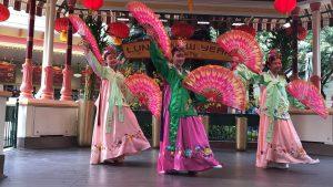 Fan Dance ( Janice Ha, Ellen Han & Sarah Jung) at Disneyland California Adventure