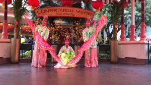 Fan Dance (Yevin Lee, Angela Kwon & Kaylee Hong) at Disneyland California Adventure