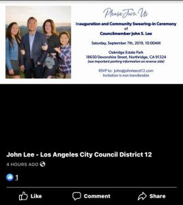 John Lee -LA City Coulcil District 12